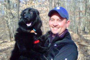 Scott with his pet dog
