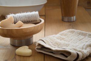 soap and washcloth