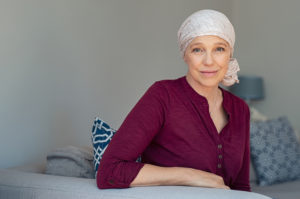 Woman suffering from cancer